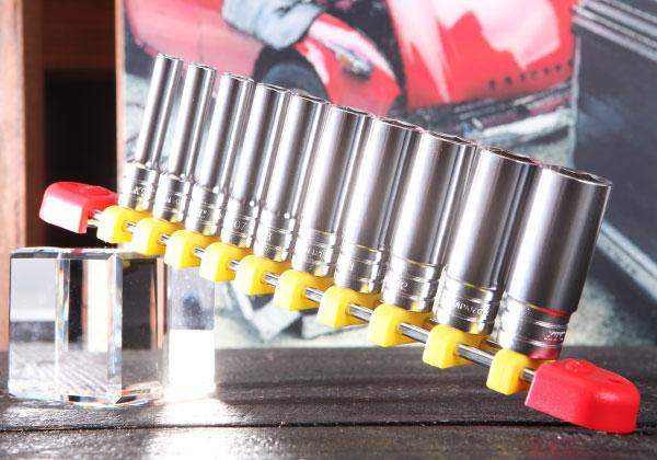 Bộ tuýp dài 1/4 inch, KTC TB2L10E, bộ đầu khẩu dài gồm 10 cỡ từ 5 đến 14mm, bộ đầu khẩu 10 cỡ loại 1/4 inch,