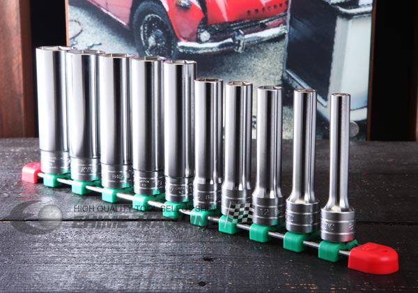 Bộ tuýp 1/2 inch từ 8 đến 24mm, KTC TB4L10E, bộ đầu khẩu từ 8 đến 24mm loại 6 cạnh