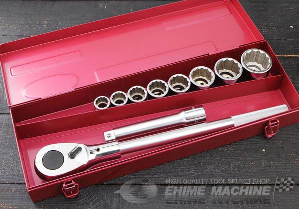 Bộ đầu khẩu 3/4 inch, bộ tuýp 3/4 inch với các đầu tuýp từ 22 đến 46mm, bộ đầu khẩu 3/4 inch KTC, KTC TB610,