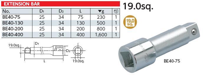 Thanh nối dài KTC, thanh nối dài loại 3/4 inch, BE40-200, KTC BE40-200