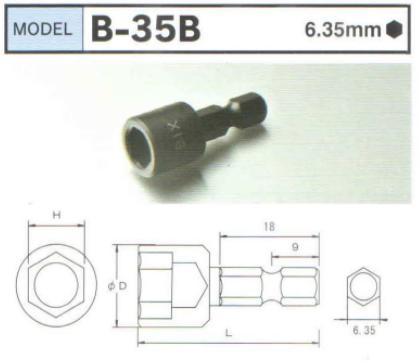 Đầu khẩu ngắn B-35B, BiX B-35B