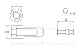 Đầu E, đầu khẩu E, đầu tuýp khẩu E, 35BE0670, 35BE0870