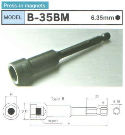 Đầu bits từ tính, đầu bits dạng khẩu có từ tính, đầu bits nam châm, B-35BM