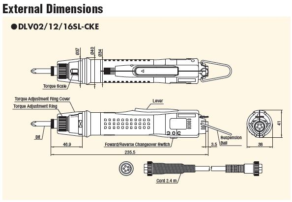 Kích thước tô vít lực Delvo, tô vít điện Delvo DLV16SL-CKE