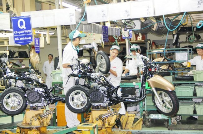 Xe máy xuất khẩu, Honda tập trung xuất khẩu xe máy, xu hướng xuất khẩu xe máy, xuất khẩu xe máy sang Nhật