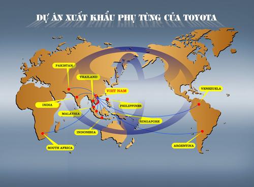 Phụ tùng xuất khẩu của Toyota, Toyota xuất khẩu phụ tùng quan trọng, phụ tùng quan trọng được xuất khâu từ Toyota Việt Nam
