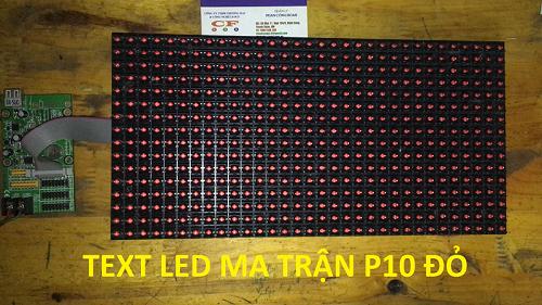 led ma trận p10 đỏ