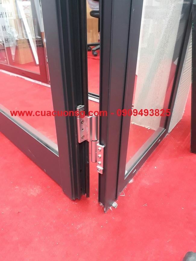 Khung cửa nhôm kính Xingfa màu đen