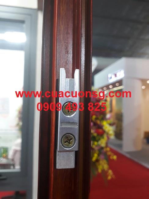 Khung cửa nhôm kính Xingfa màu vân gỗ