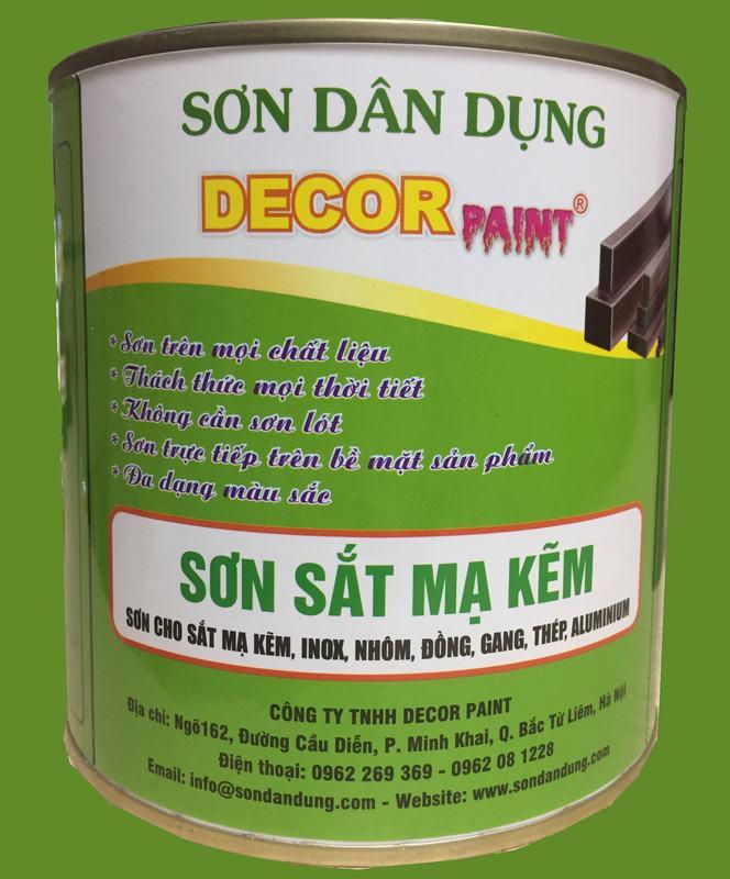 Sơn sắt mạ kẽm Decor Paint