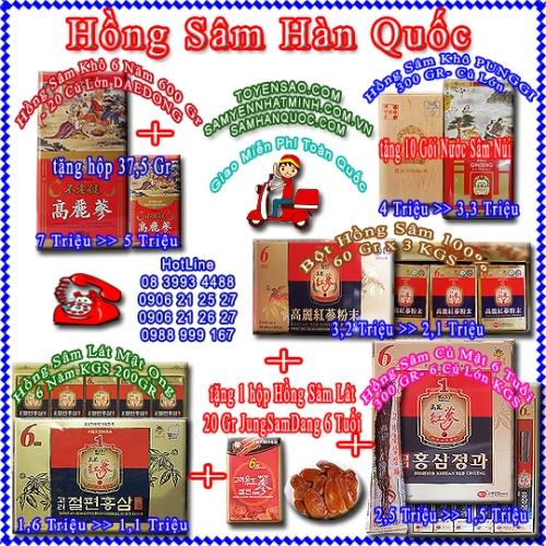 Hồng Sâm Khô Hộp Thiết