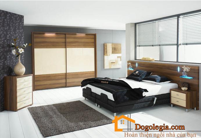 Bộ giường tủ gỗ công nghiệp cao cấp