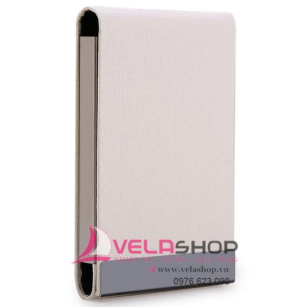 hộp đựng namecard nắp dọc màu trắng