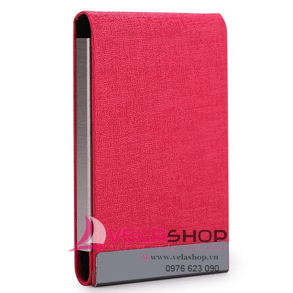 hộp đựng namecard nắp dọc màu đỏ