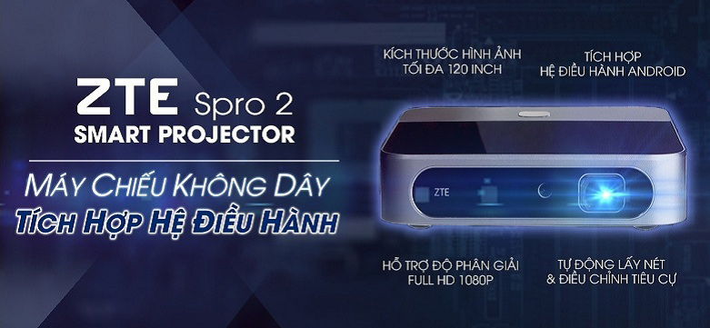 Máy chiếu mini, không dây ZTE Spro 2 Android Projector