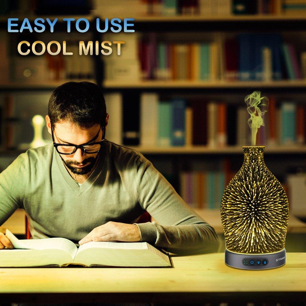 Bình phun sương khuếch tán tinh dầu SzTrokia Essential Oil Diffuser, 3D Effect