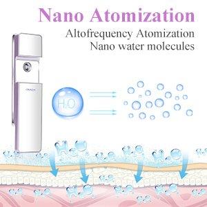 Máy xông hơi dưỡng da mặt mini OKACHI GLIYA Nano Mist Sprayer OG-1882