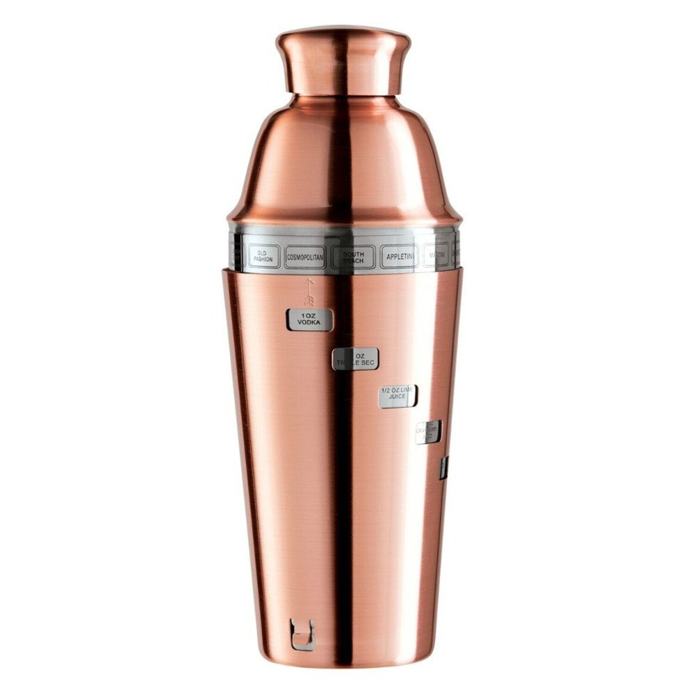 Bình pha chế Oggi Dial A Drink Cocktail Shaker - 15 công thức