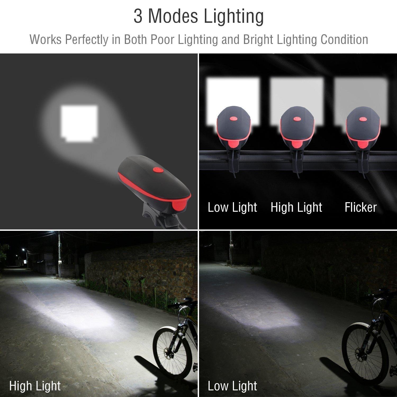 Đèn pin kèm còi báo cho xe đạp Fineed