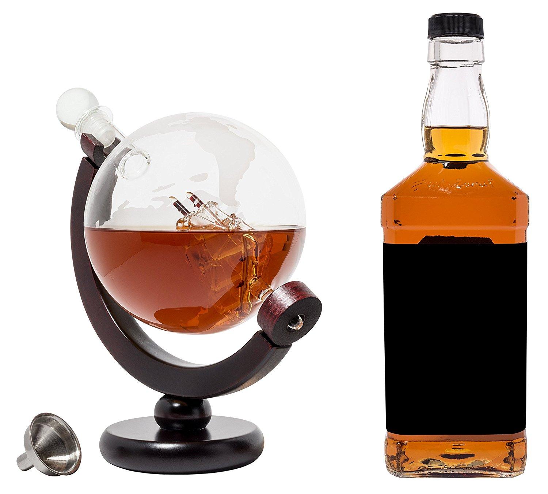 Bình đựng rượu hình địa cầu BarMe Globe Whiskey Decanter 850 ml