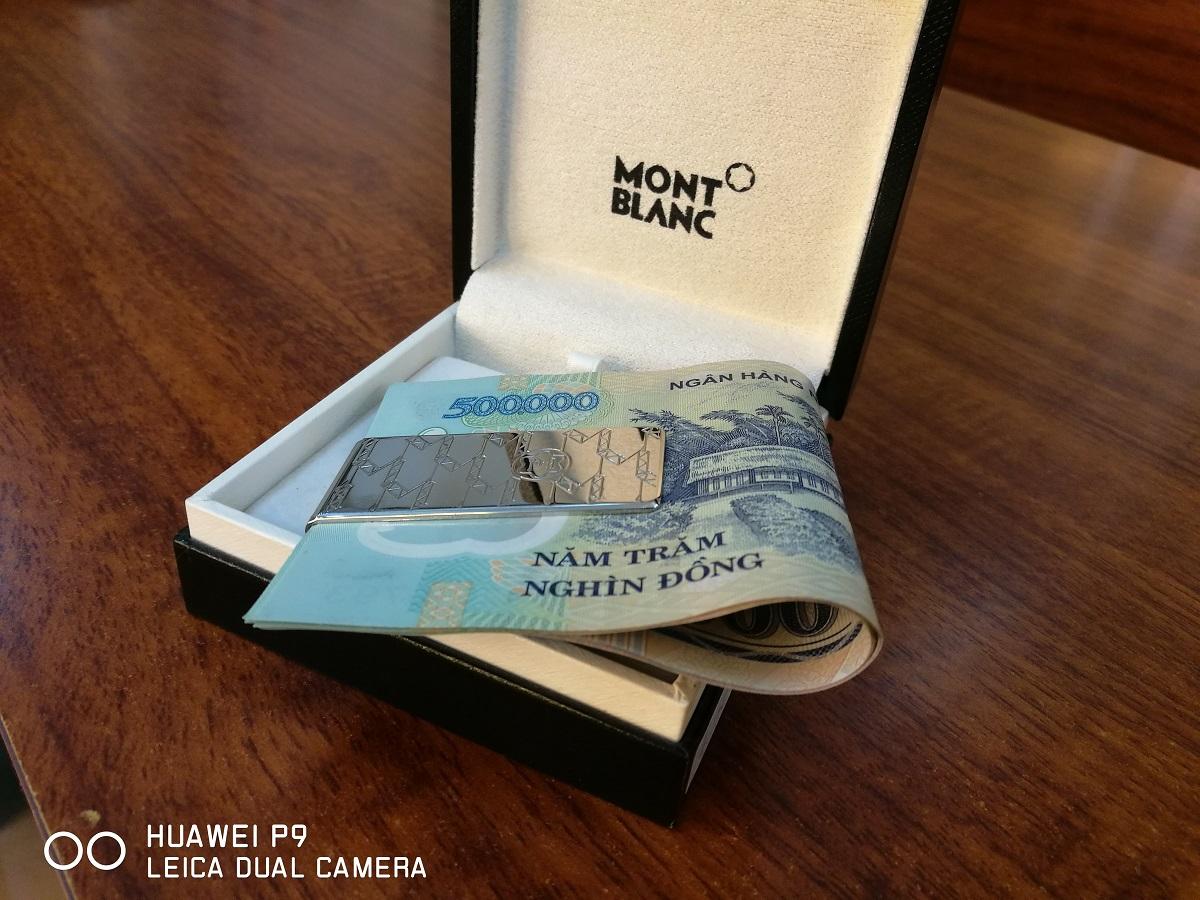 Kẹp tiền MontBlanc Money Clip, Monogram 112996