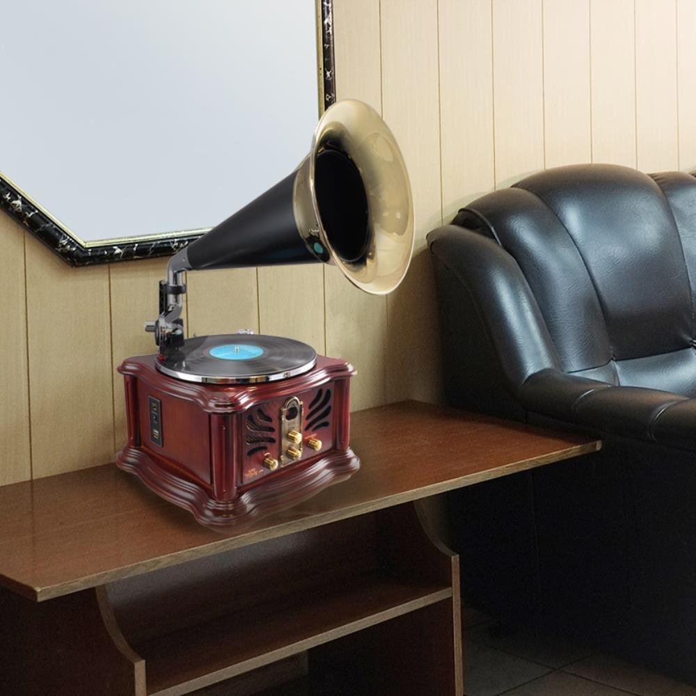 Loa kèn nghe đĩa than Pyle Vintage PUNP33BT Bluetooth