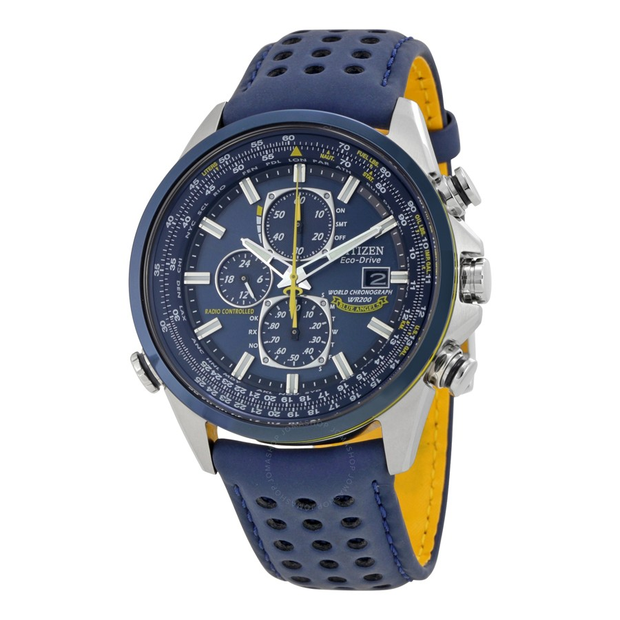 Đồng hồ nam Citizen Eco-Drive AT8020-03L Blue Angels World Chronograph A-T