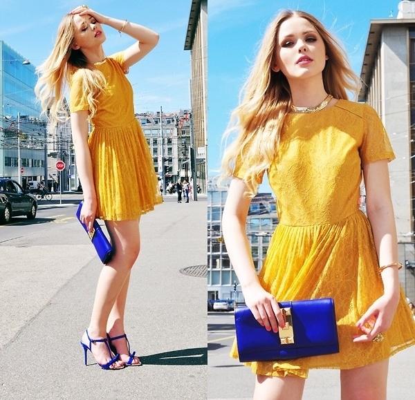 váy đầm công sở vàng
