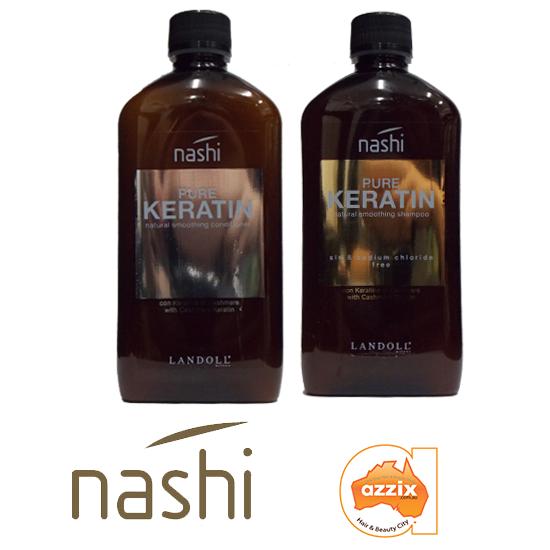 Dầu gội và dầu xả Nashi Pure Keratine nuôi tóc thẳng mượt