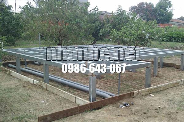 Lắp ráp xử lý nến nhà gỗ kết hợp nhà thép lắp ghép