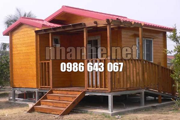Hoàn thiện nhà gỗ kết hợp nhà thép lắp ghép