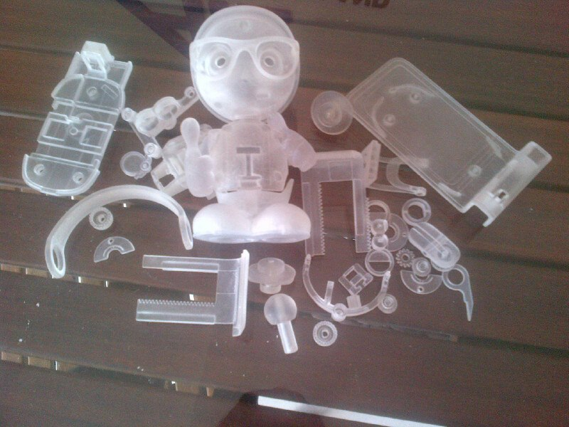 Mẫu in 3D vật liệu trong suốt