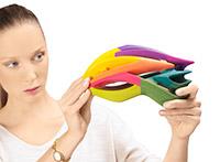 mẫu in 3D đa màu sắc đa vật liệu
