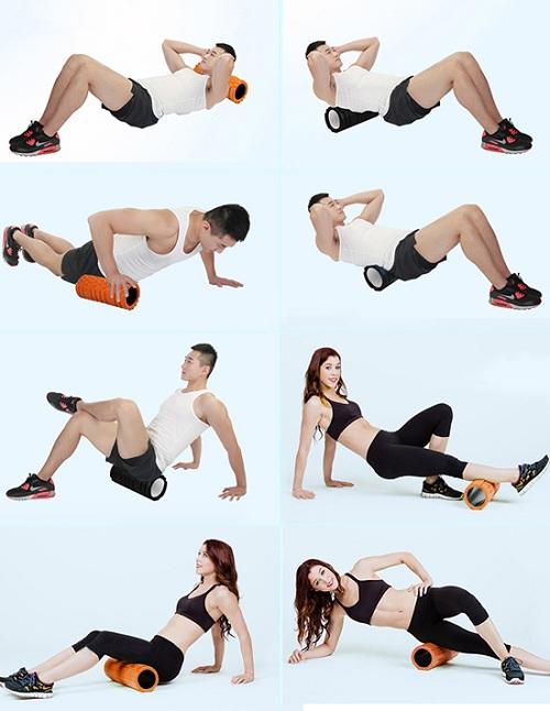 bài tập con lăn massage tập Yoga Foam Roller