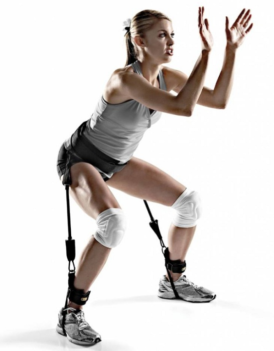 bài tập dây đàn hồi chân mông