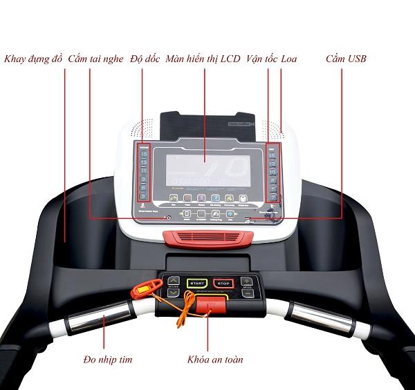 bảng điều khiển máy chạy bô đa năng HQ-V2C