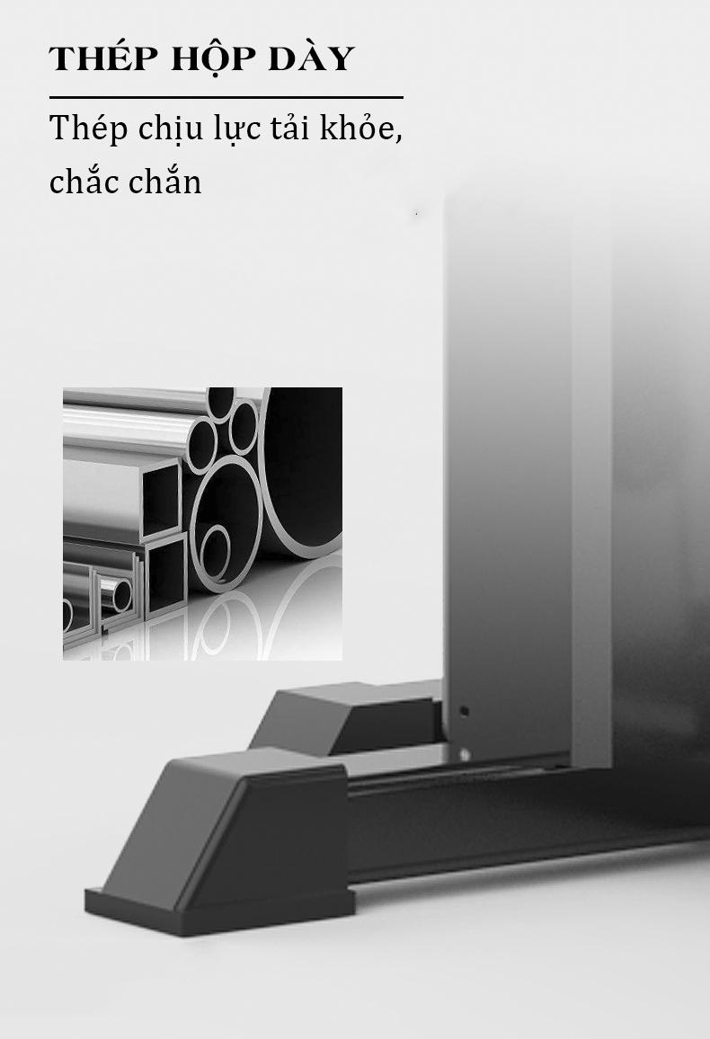 Khung chính của HQ-708 làm từ thép hộp 50 x 70mm