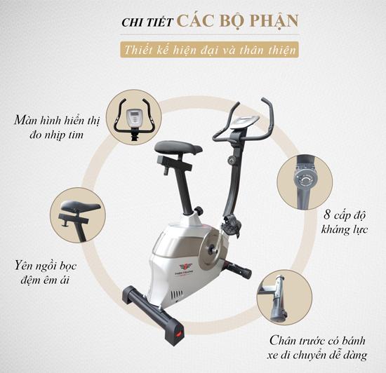 chi tiết xe đạp thể dục HQ 6180
