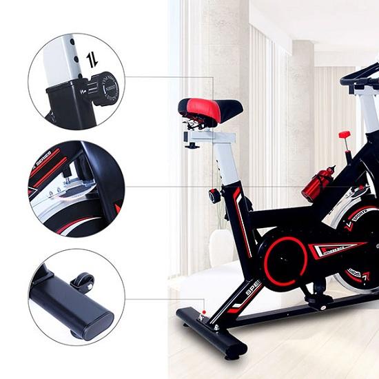 Xe đạp tập thể dục Spin Bike MK207 thiết kế chắc chắn và đẹp mắt theo dáng địa hình
