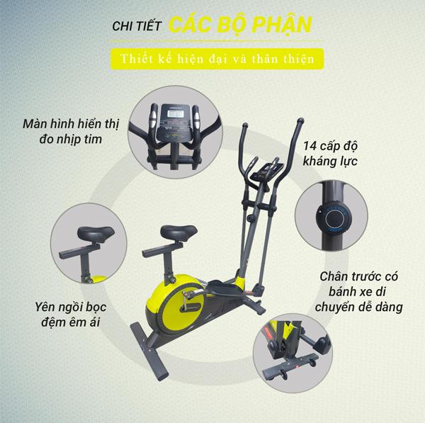Chi tiết xe đạp đạp tập thể dục BC89502