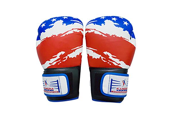 găng tay boxing Kanggrui KS321 màu xanh