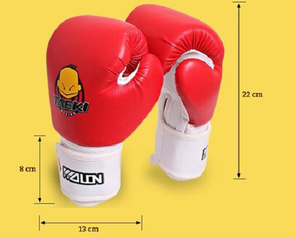 kích thước găng tay boxing trẻ em