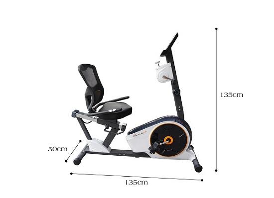 kích thước xe đạp tập phục hồi chức năng D853