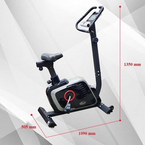 kích thước xe đạp tập thể dục DLE 42816B