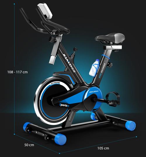 kích thước xe đạp thể thể dục Spin Bike JN55