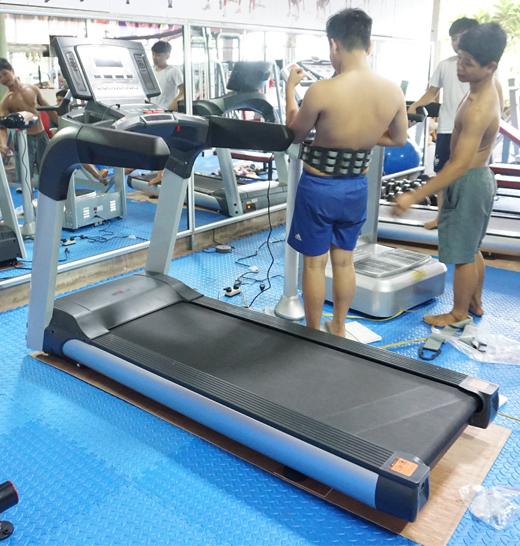 máy chạy bộ DL-T6 lắp phòng gym