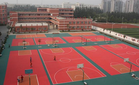 thảm sân ngoài trời bóng rổ