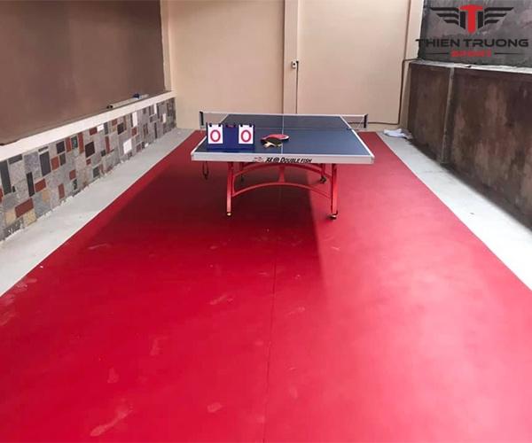 Thảm sân bóng bàn Enlio A-14145 làm từ chất liệu PVC