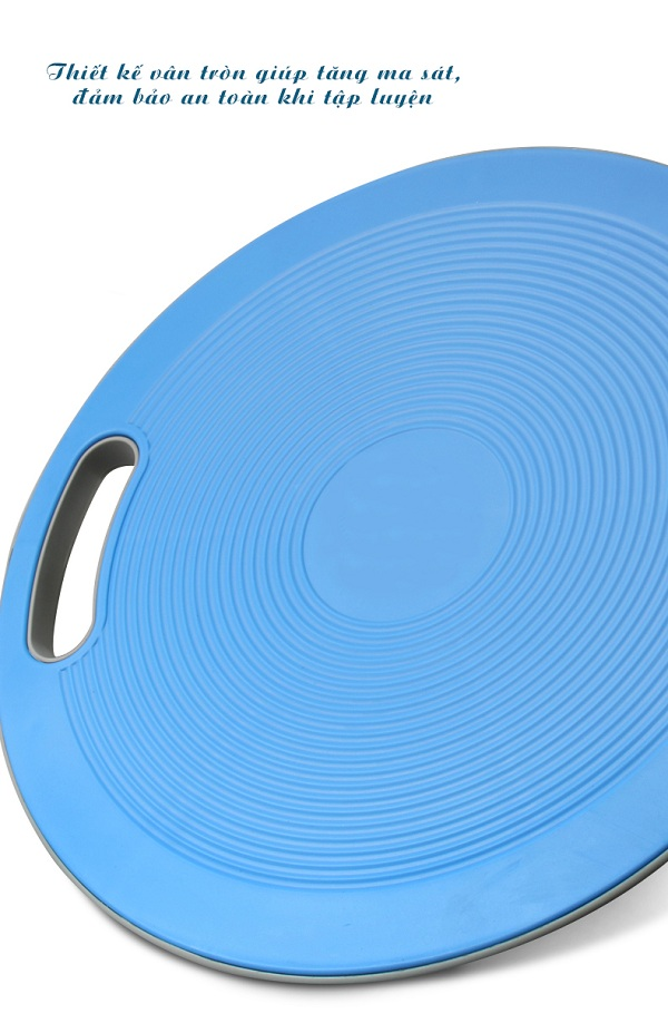 Bề mặt đĩa được thiết kế vân tròn giúp tăng ma sát, an toàn tuyệt đối cho người tập