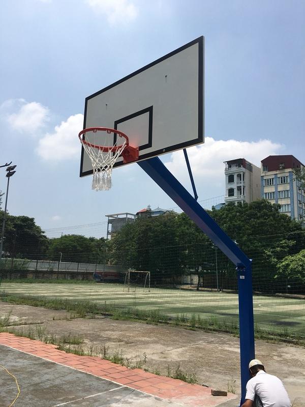 chi tiết trụ bóng rổ cố định Thiên Trường TT-503